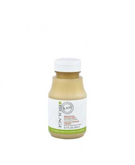 Biolage RAW Smoothing Styling Milk 200ml - latte anticrespo